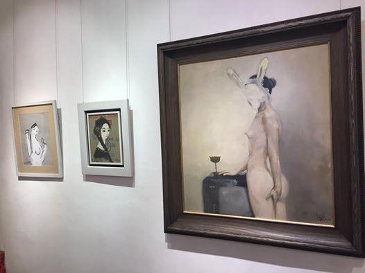 """Bức tranh """"Cô gái Thỏ"""" của họa sĩ trẻ Nguyễn Phan Bách từng được bán đấu giá với số tiền lên tới 25.000 USD"""