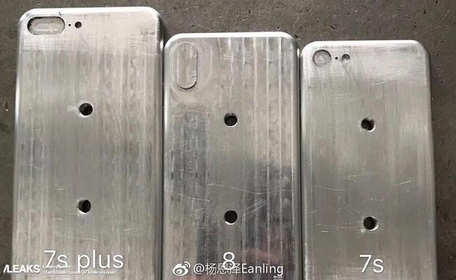 Hình ảnh rò rỉ khuôn đúc sản phẩm iPhone 7S, iPhone 7S Plus, iPhone 8.
