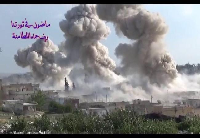 Không quân Nga không kích ác liệt ở Hama