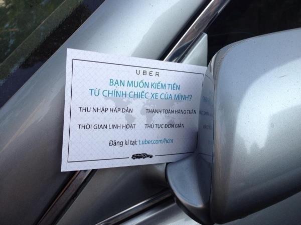 Một hoạt động giới thiệu xe Uber