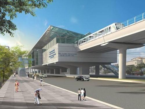 Phối cảnh thiết kế ban đầu tuyến đường sắt Cát Linh - Hà Đông