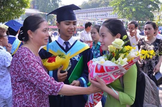Sinh viên Trường ĐH Bách khoa, ĐHQG TP HCM trong ngày tốt nghiệp