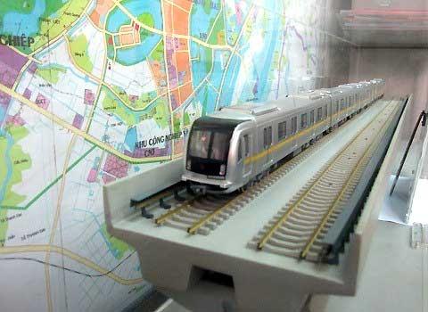 Mô hình tàu điện tuyến Cát Linh - Hà Đông.
