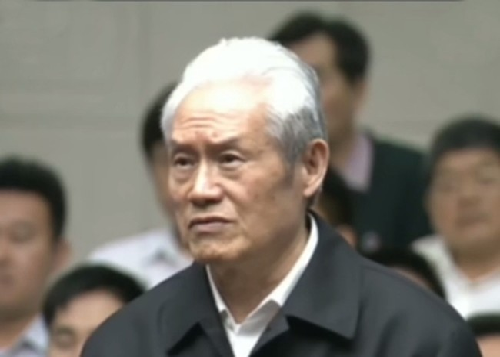 Chu Vĩnh Khang trong phiên xét xử. Ảnh: CCTV