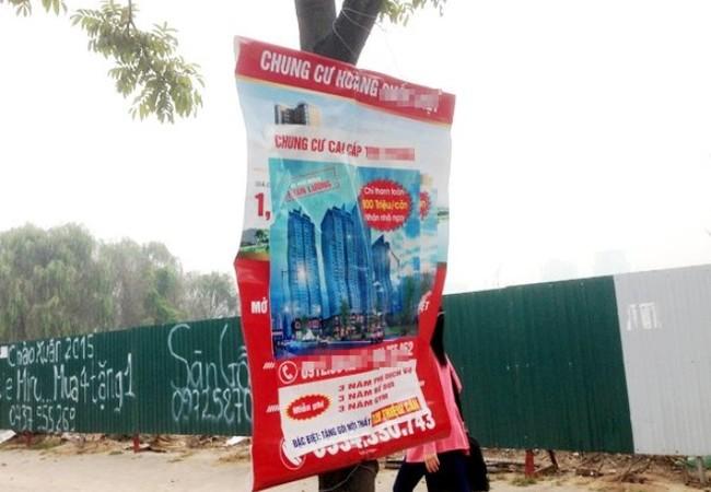 Quảng cáo bán nhà tràn lan không có cơ quan quản lý