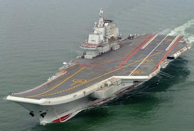 Tàu sân bay Liêu Ninh của Trung Quốc. (Nguồn: AP)