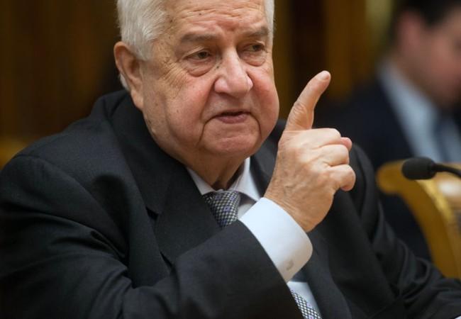 Bộ trưởng Ngoại giao Syria Walid Muallem.