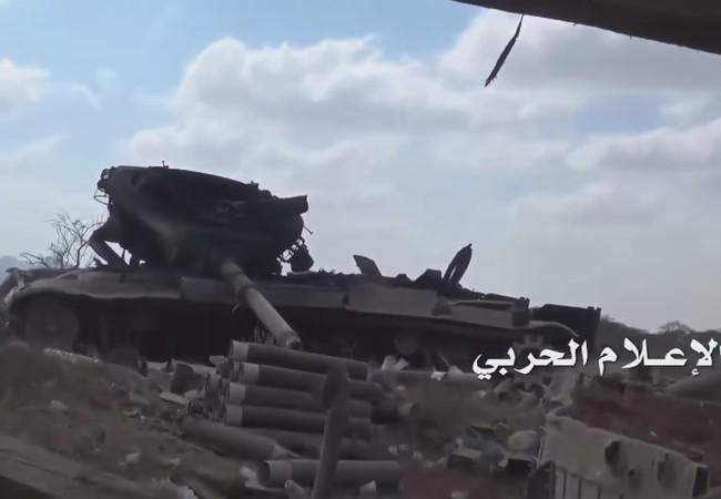 Video phiến quân Huthis tập kích nổ tung tăng, thiết giáp Arab Saudi