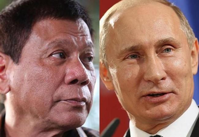 Tổng thống Philippines Duterte và Tổng thống Nga Putin.