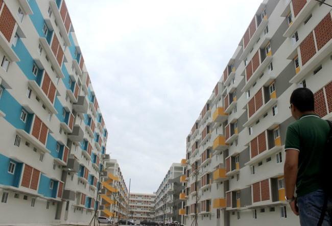 Khu căn hộ thuộc dự án xây dựng Nhà ở xã hội Định Hòa. Nguồn: Internet
