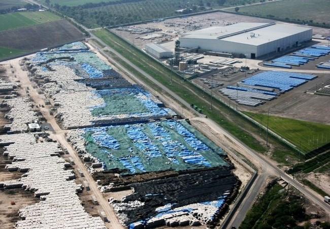 Kho nhôm 500.000 tấn của Công ty Nhôm Toàn cầu Việt Nam tại Bà Rịa - Vũng Tàu. Nguồn: Internet