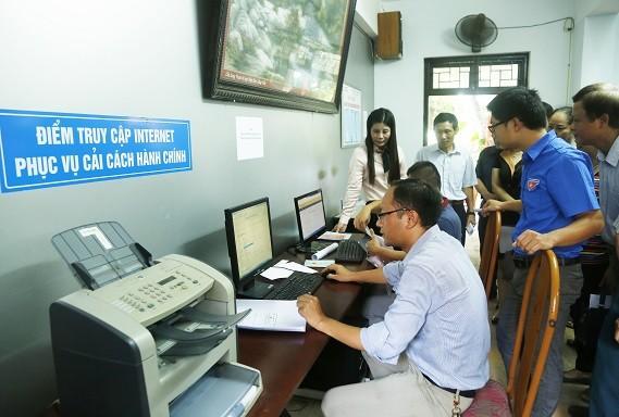 Đến nay, thành phố đã công bố 871 thủ tục hành chính thực hiện tiếp nhận và trả kết quả qua dịch vụ bưu chính. Ảnh: haiphong.gov.vn