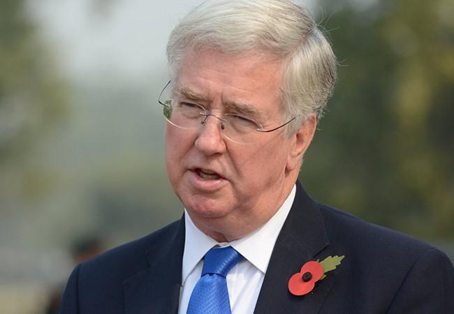 Bộ trưởng Quốc phòng Anh Michael Fallon.