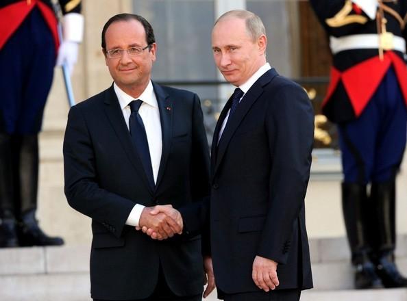 Tổng thống Nga - Pháp (ảnh tư liệu)
