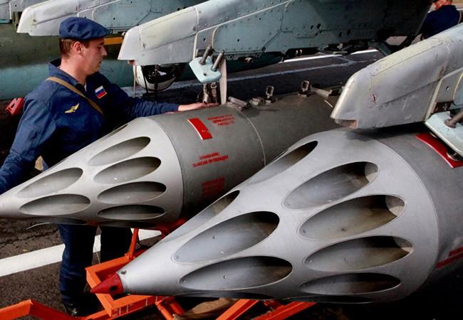 Không quân Nga đánh IS ở Syria (ảnh tư liệu)
