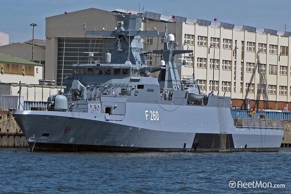 Đức mua 5 tàu hộ tống Braunschweig.