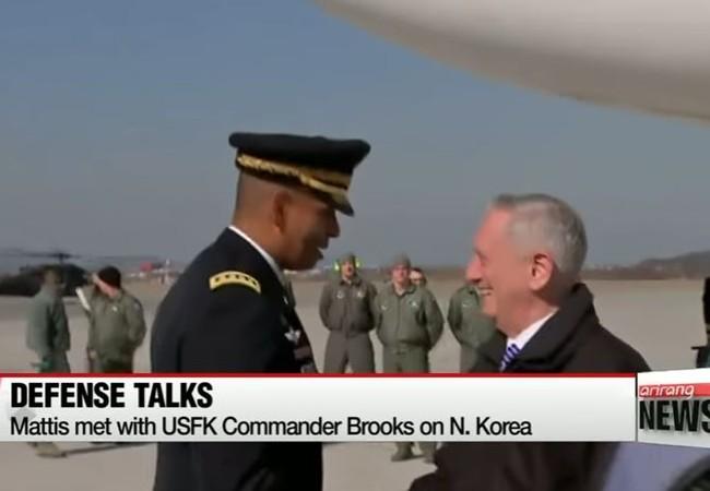Bộ trưởng QP Mỹ James Mattis đến Hàn Quốc, sẽ có thông điệp quan trọng