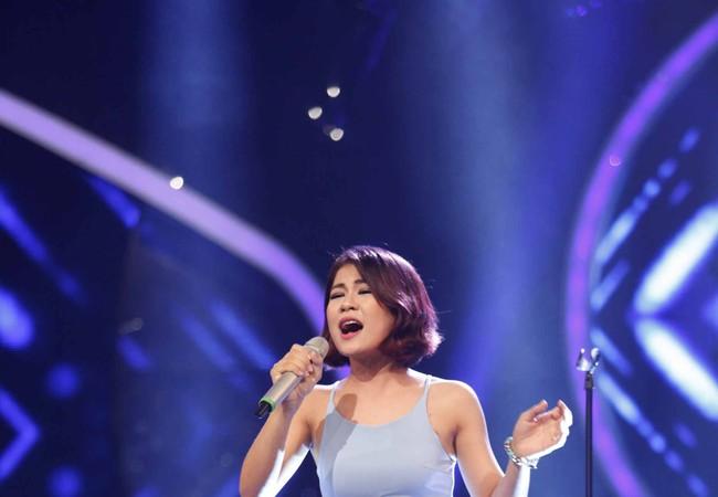Hà Nhi trên sân khấu Vietnam Idol 2015