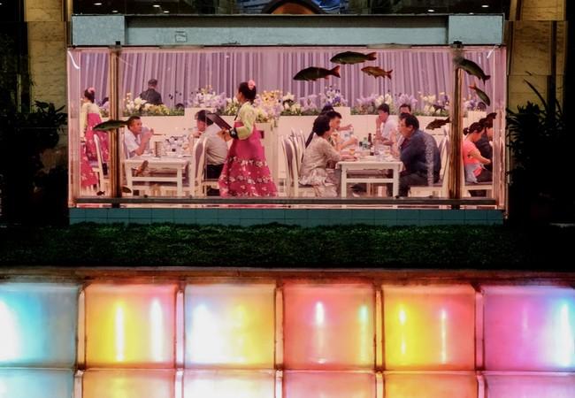 Quang cảnh nhà hàng bên trong khách sạn Koryo ở Bình Nhưỡng