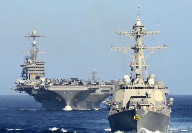 Cụm tác chiến tàu sân bay Mỹ thường trực ở châu Á-Thái Bình Dương