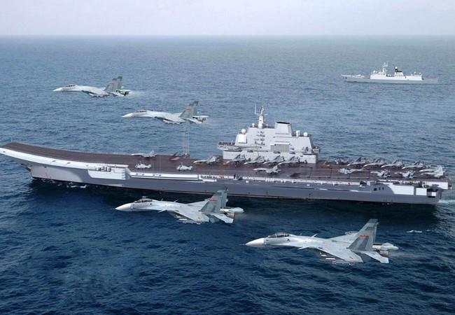 Trung Quốc đang cố gắng xây dựng cụm tác chiến tàu sân bay rập khuôn mô hình Mỹ