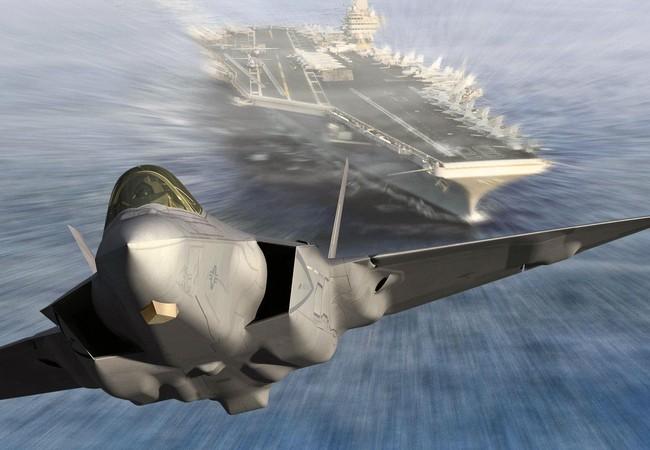 Chiến đấu cơ tàng hình thế hệ năm F-35 xuất kích từ tàu sân bay Mỹ