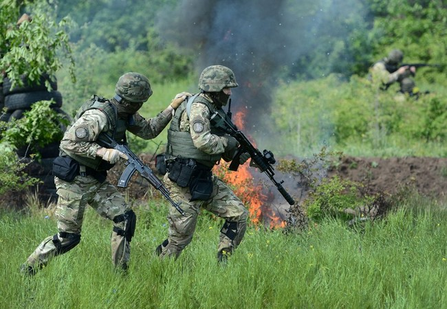 Binh sĩ Ukraine tại Donbass