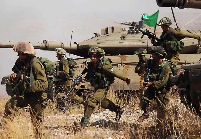 Xe tăng và binh sĩ Israel