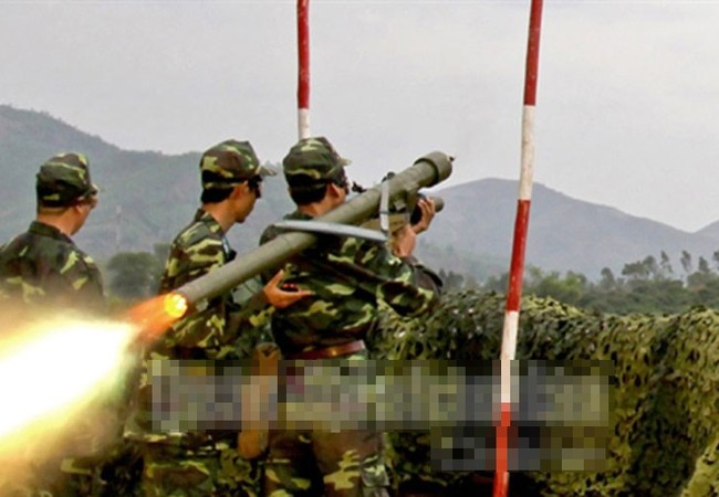 Khẩu đội phòng không bắn tên lửa Igla trong mộc cuộc diễn tập