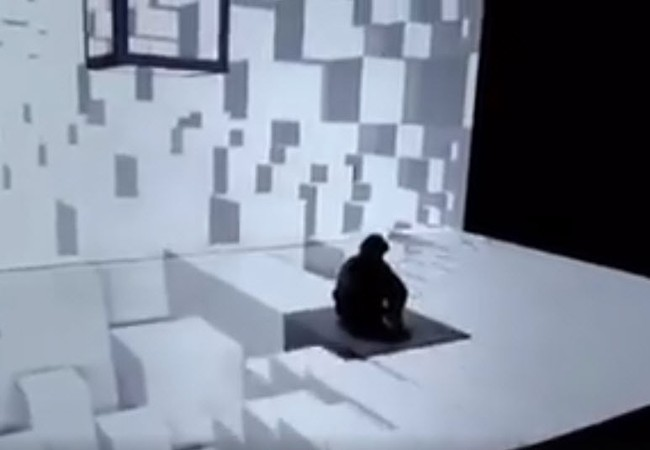 Công nghệ máy chiếu kết hợp với múa