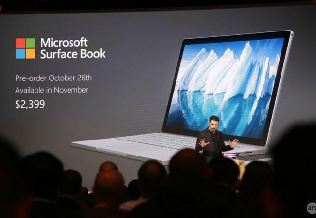 Microsoft ra mắt Surface Book i7, giá 2.400 USD