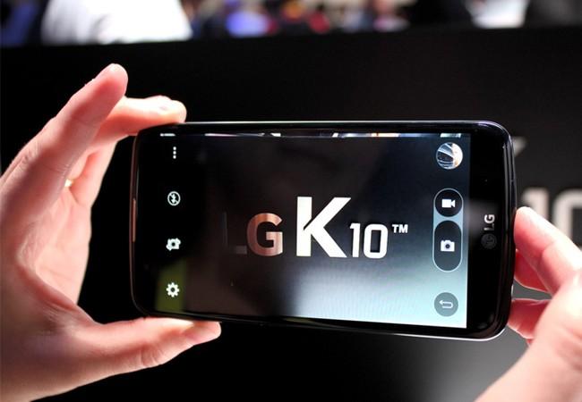 Cận cảnh smartphone LG K10 phiên bản 2017