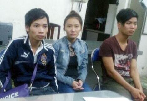 Các đối tượng trong băng nhóm lừa đảo trên mạng xã hội Zalo bị bắt giữ.