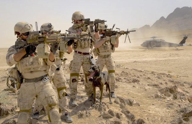 Đặc nhiệm SEAL của hải quân Mỹ ở Afghanistan - Ảnh: US Navy