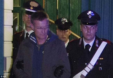 Trùm mafia Massimo Carminati bị bắt giữ vào tháng 12-2014. (Ảnh: dailymail.co.uk)