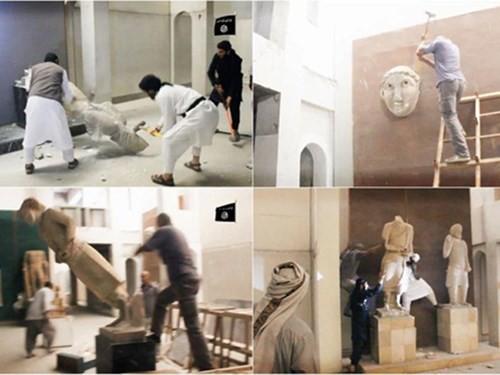 Đội quân IS cướp phá bảo tàng Nineveh ở Iraq hồi tháng 2-2015