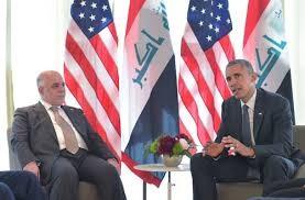 ổng thống Mỹ Barack Obama (phải) trong cuộc gặp Thủ tướng Iraq Haider al-Abadi bên lề Hội nghị thượng đỉnh G7 tại Đức. Ảnh: AFP/TTXVN