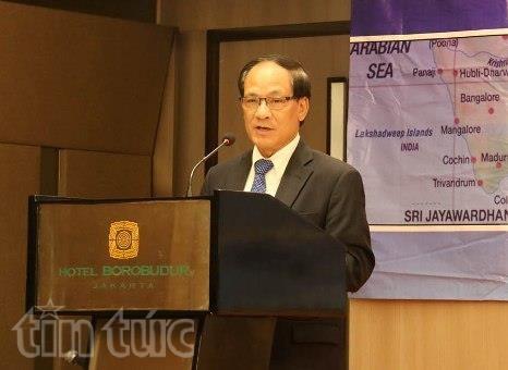 Tổng Thư ký Lê Lương Minh phát biểu tại hội thảo.