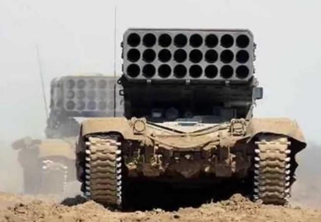 """Pháo phản lực nhiệt áp TOS-1A """"Solshepёk"""""""