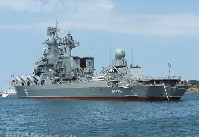 """Tuần dương hạm Moskva sẽ """"canh gác"""" không phận Latakia"""