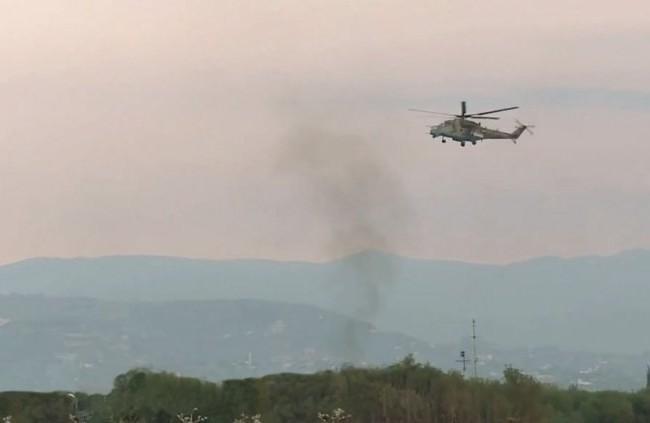 Trực thăng chiến đấu Mi-35 xuất hiện trong chương trình truyền hình của RT