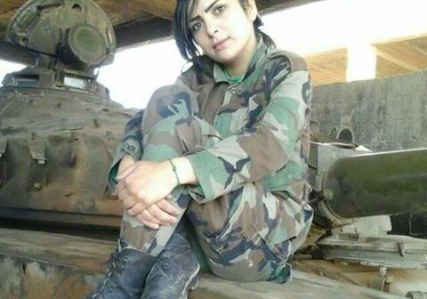 Nữ quân nhân Hanaa Salah Mohammed
