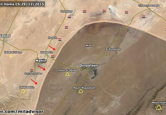 Nóng: Quân đội Syria giải phóng thị trấn Maheen, Homs lần thứ 3