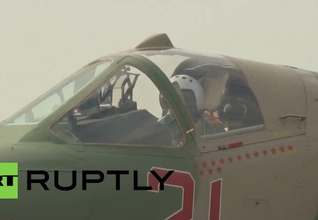 Chiếc Su-25 số hiệu 21 đã có tới 150 lần không kích thành công
