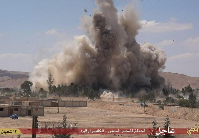 IS phá hủy nhà tù cổ ở thành phố Palmyra