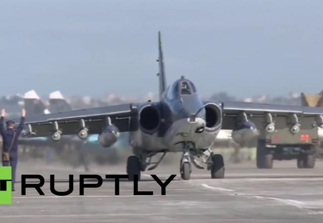 Video: Không quân Nga - Syria hợp binh không kích khủng bố