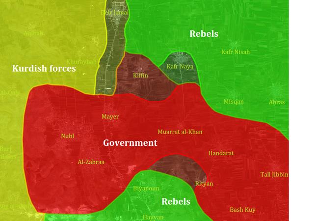Dân quân người Kurd và quân đội Syria phối hợp tấn công ở Bắc Aleppo