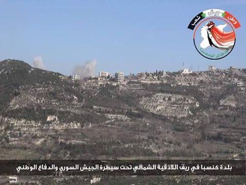 Lữ đoàn 103 và đồng minh giải phóng thị trấn Kinsibba, Latakia