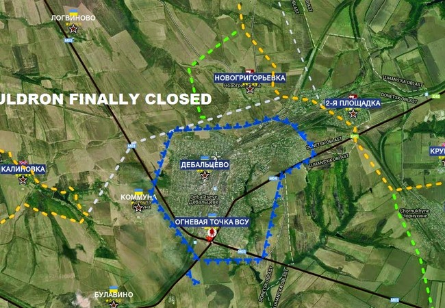 "Bản đồ ""nồi hầm"" Debaltsevo 1 năm trước đây"