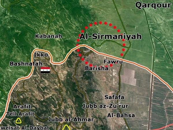 Làng Al-Sirmaniyah thuộc miền Bắc Latakia